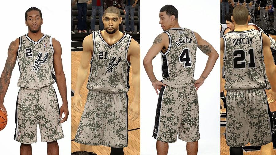NBA2K Spurs Military Night Jersey Pattern Fix