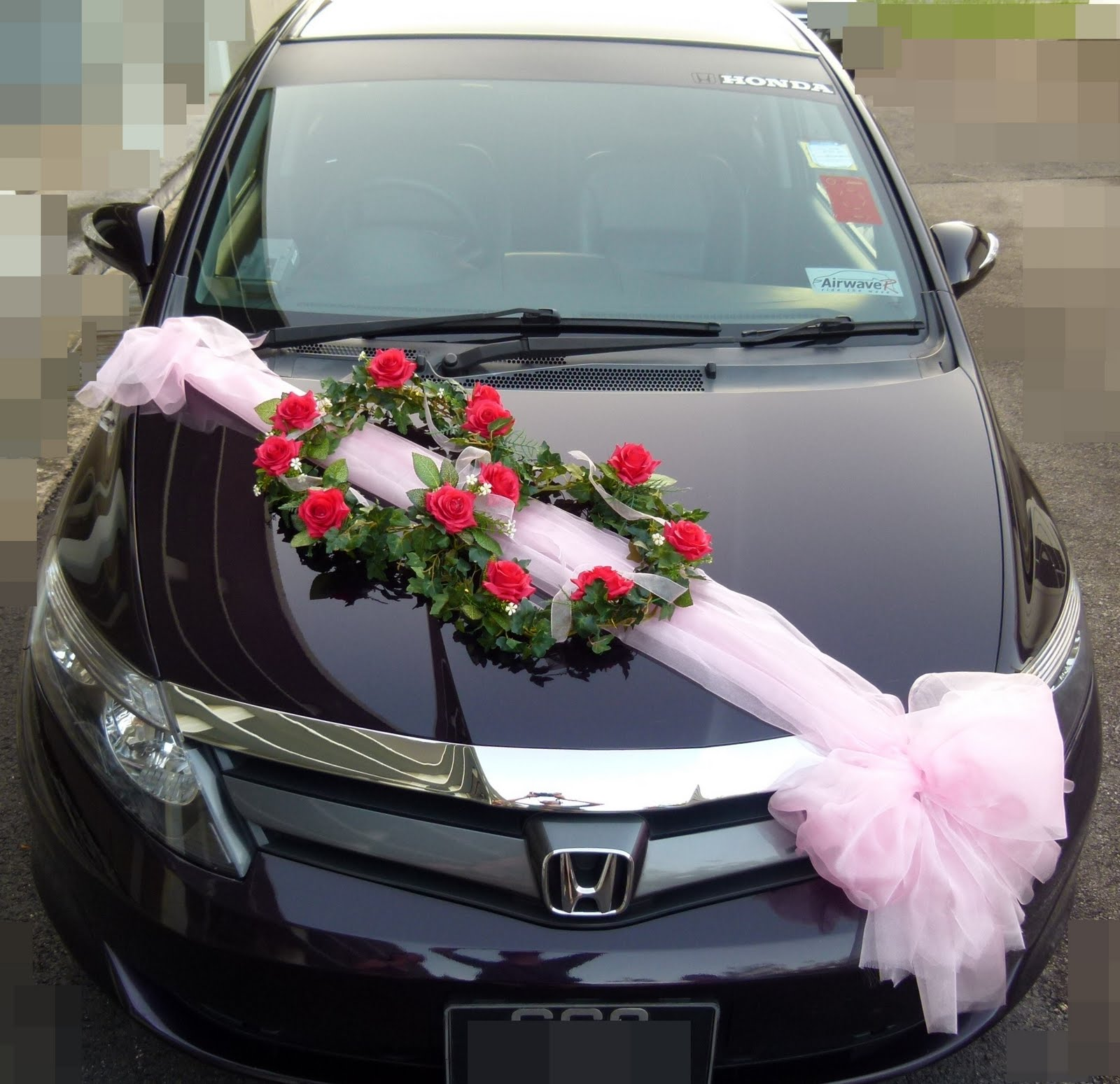Lynette u wedding car decorations for Automobile decoration