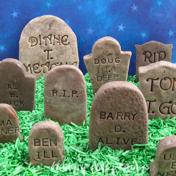 make these cute and spooky cookies n cream fudge tombstones for any halloween occasion