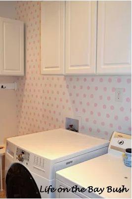 Polka Dot Laundry Room