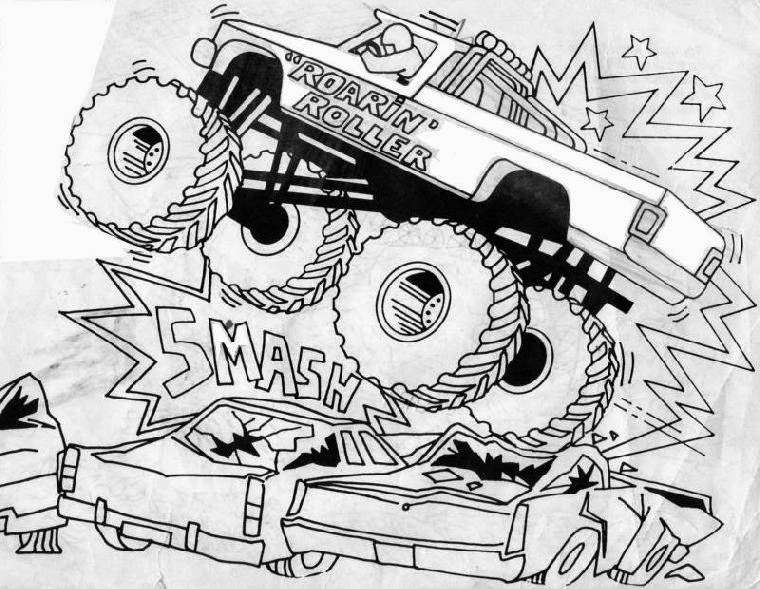 Monster Truck Coloring Pages For Boys - Free Coloring Pages
