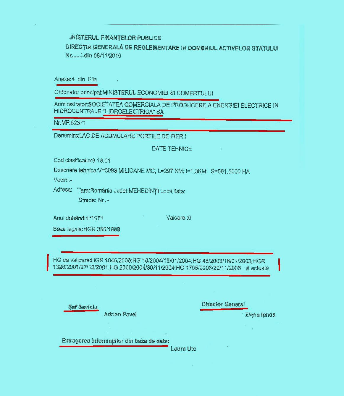 2.RASPUNSUL MINISTERULUI FINANTELOR - TERENURILE APARTIN STATULUI ROMAN