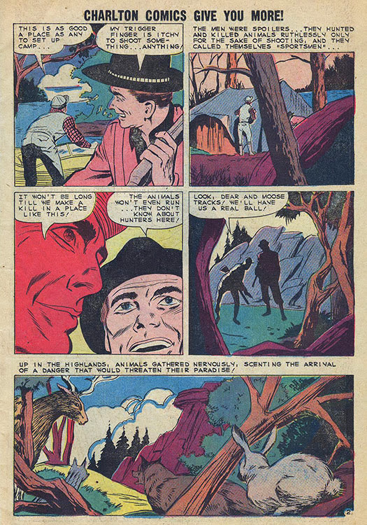 Atomic kommie comics 2014 02 23 written by joe gill penciled by matt baker and inked by vince colletta this never reprinted story about nature outsmarting man appeared in charltons fandeluxe Gallery