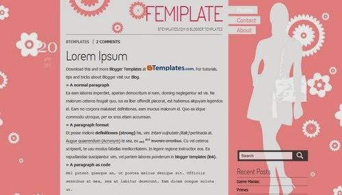 Femiplate - Free Blogger Template