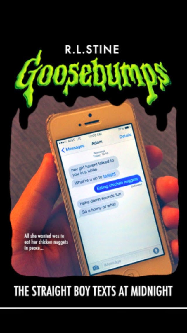 Image of of fake Goosebumps book.