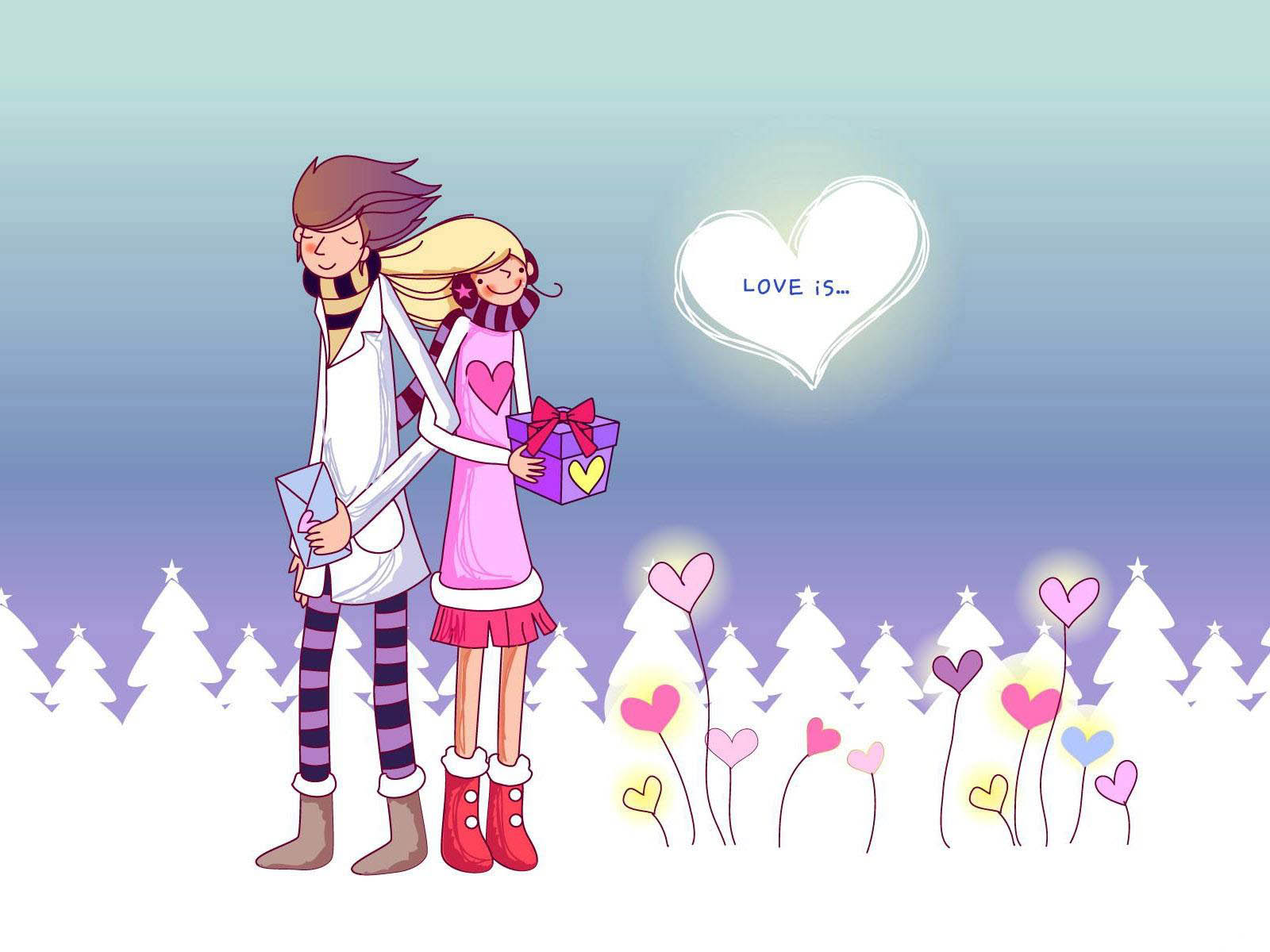 Romantic Love cartoon Wallpaper : wallpapers: Romantic Love Wallpapers