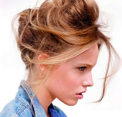 Peinados y estiloss modernos peinados recogidos en este 2013 - Peinados monos modernos ...