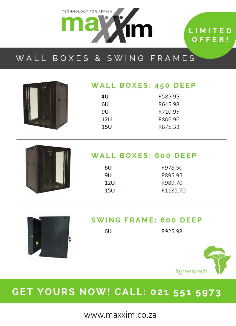 Maxxim's Wall-Mounted Cabinets for Structured Cabling