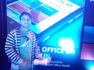 sushil with nokia Lumia 800