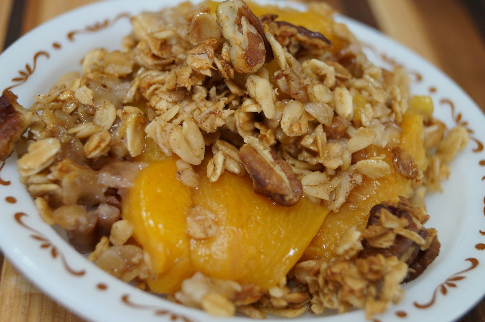 free peach crisp 2 quarts canned peaches or 2 large cans peaches ...