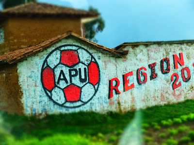 Image: APU Painted on a Building Between Chinchero and Cusco