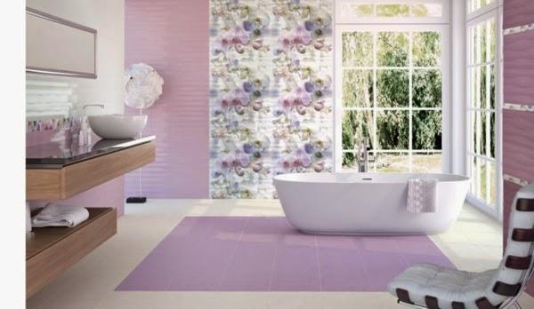 Azulejos Baño Fucsia:Baños muy femeninos – Colores en Casa