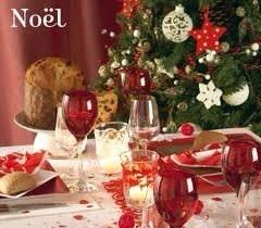 """table de fêtes """"rouge"""" chaleureux"""