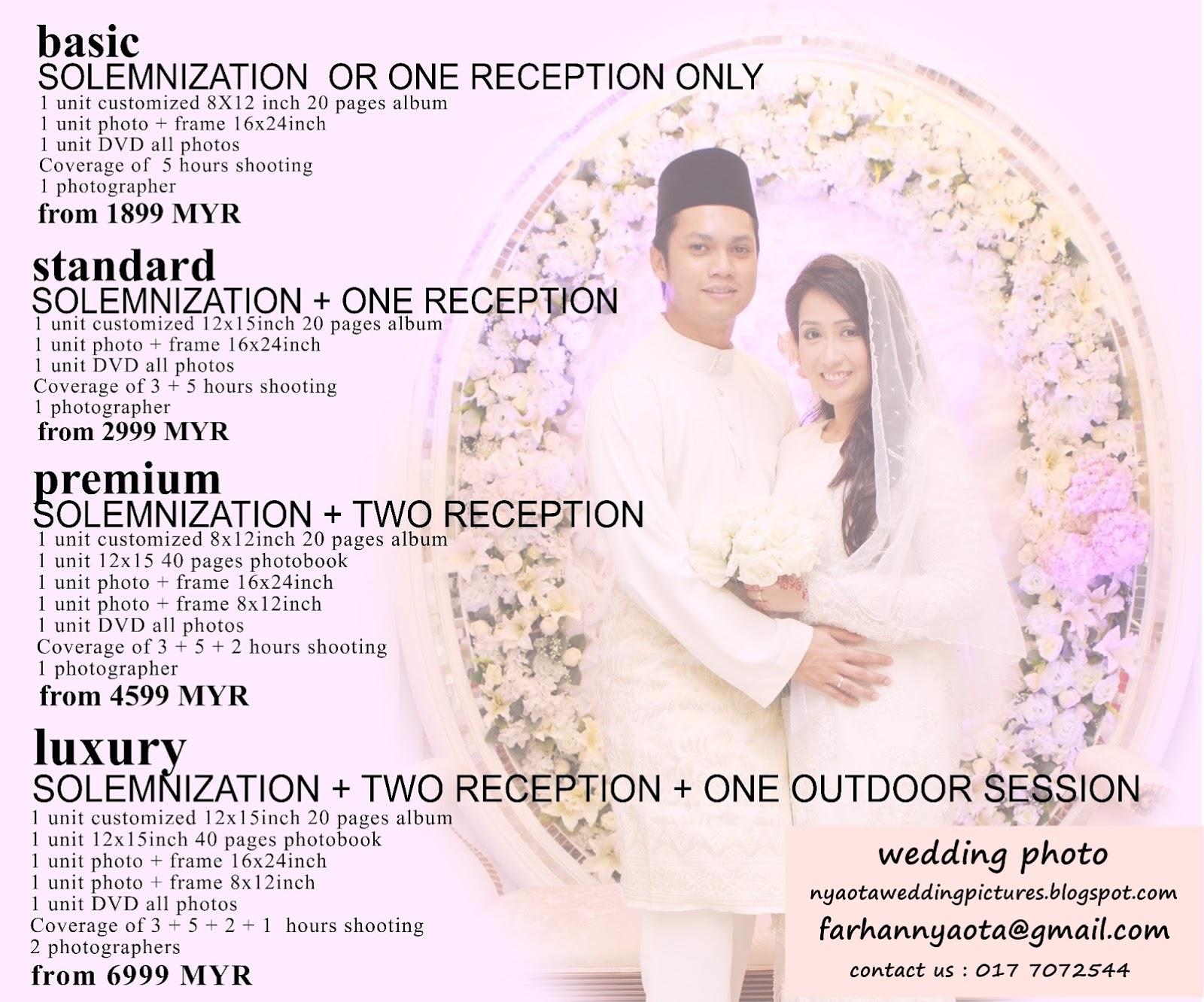 Wedding Photo Pre Package Price Malaysia