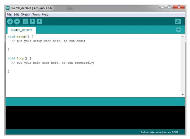 Antarmuka software IDE arduino