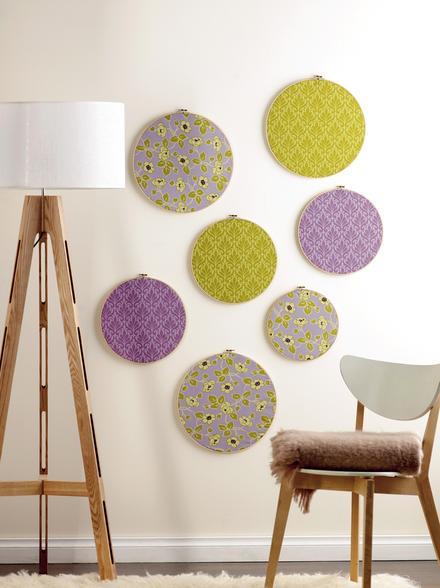 La guarida de bam ideas para decorar con bastidores - Telas para decorar paredes ...