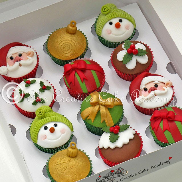 The Creative Cake Academy: CHRISTMAS CUPCAKES