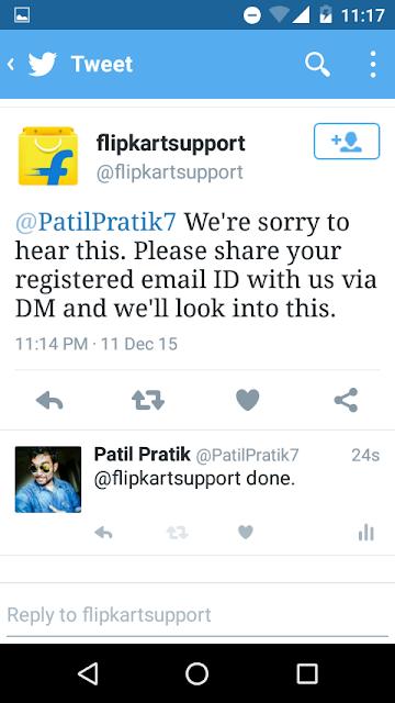 Flipkart support twitter