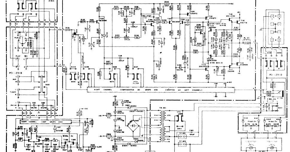 esquema el u00e9trico  gradiente amplificadores m