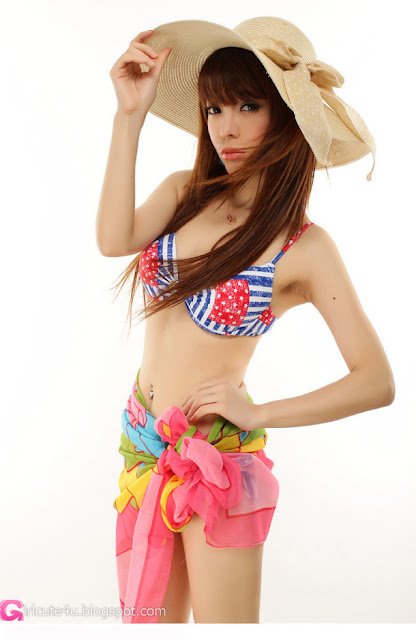 1 Zhao Xue - Early spring - swimsuit-very cute asian girl-girlcute4u.blogspot.com