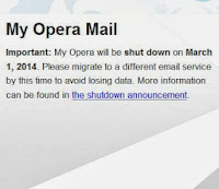 my opera discontinued news