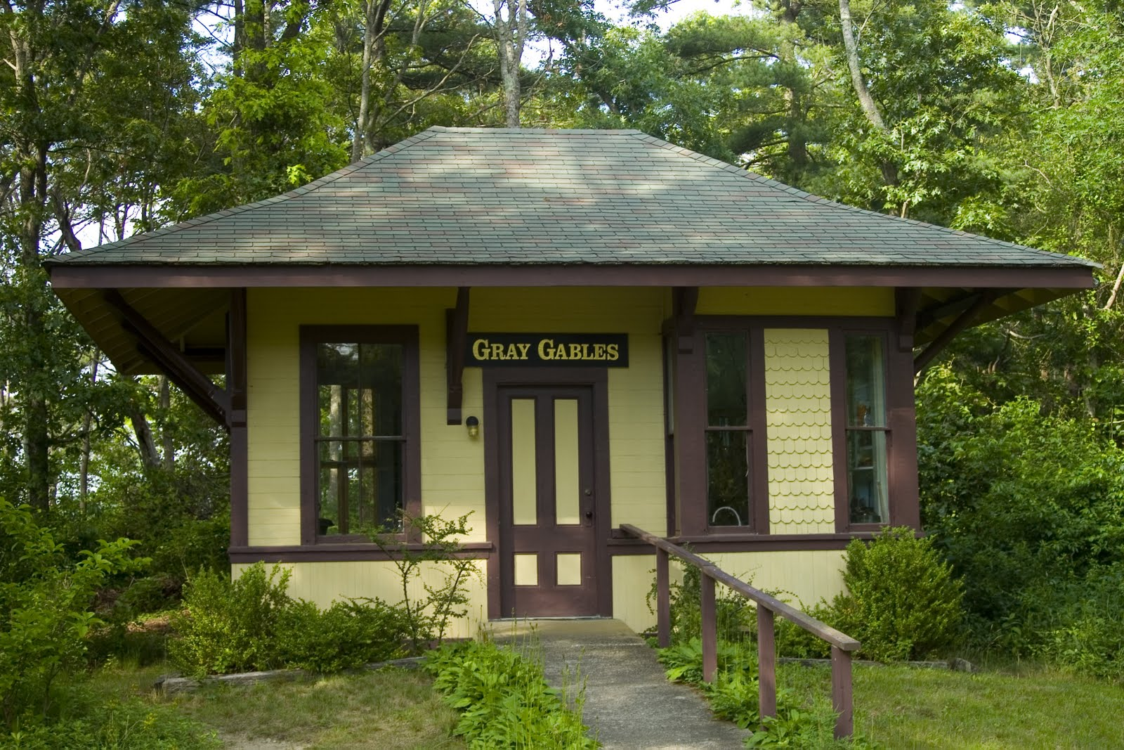 Cape Cod A List Part - 45: Grey Gables, The Private Railroad Station Of Grover Cleveland When He Lived  On Cape Cod