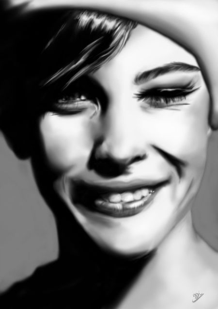 Innes McDougall pinturas digitais realistas fotografias modelos mulheres atrizes preto e branco Liv Taylor