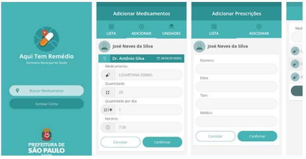 Aplicativo Aqui Tem Remédio (Android e IOS)
