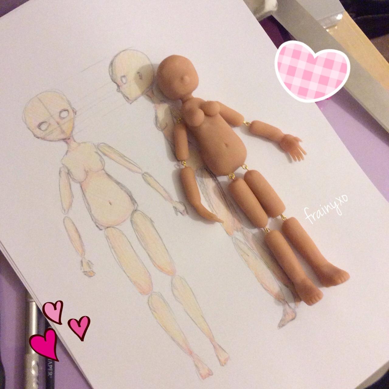 Frainy, xo: Making My Polymer Clay Doll