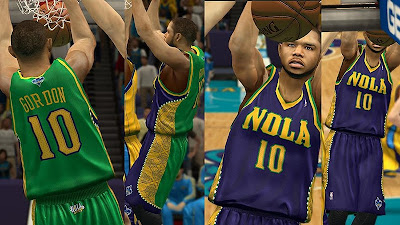NBA 2K13 New Orleans Hornets Away Jersey Green Violet