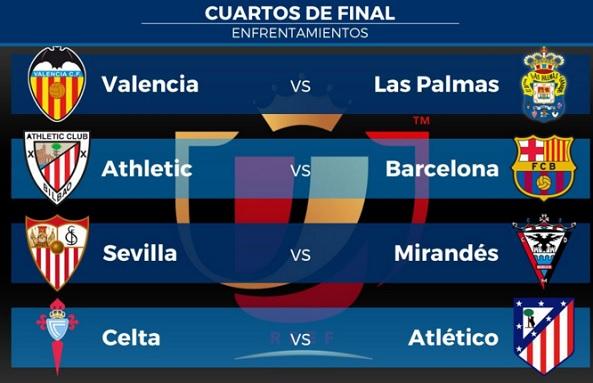 Cuartos Copa del Rey 2015-2016. Partidos de ida - Liga Española 2019 ...