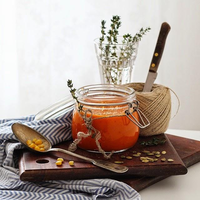 Томатный суп из томатов в собственном соку