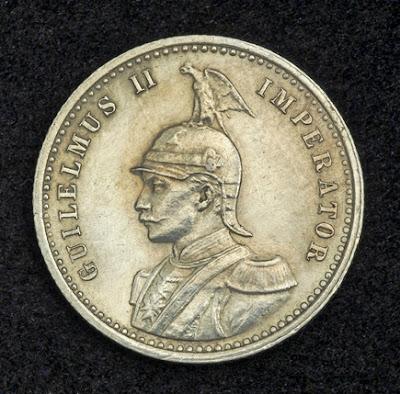 German East Africa Rupee Silver Coin, German Emperor Kaiser Wilhelm II