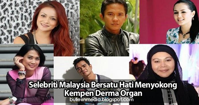 Selebriti Malaysia Bersatu Hati Menyokong Kempen Derma Organ