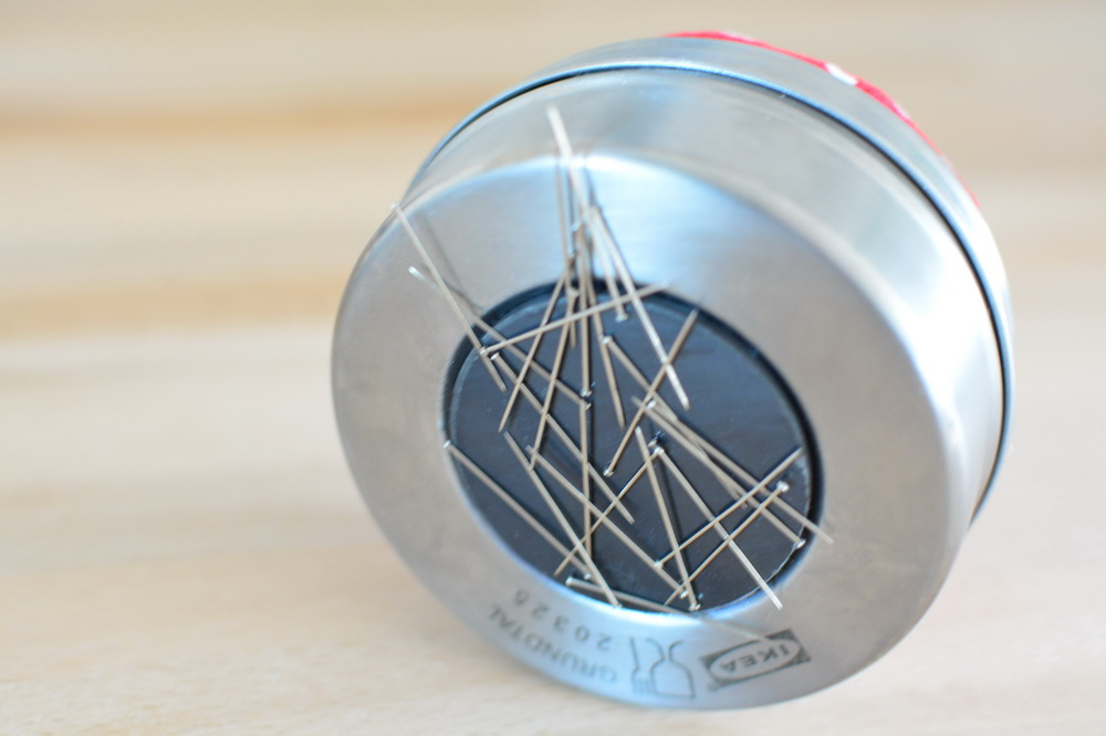 Nadelkissen Nadeldose Magnet Grundtal DIY Anleitung IKEA Hack
