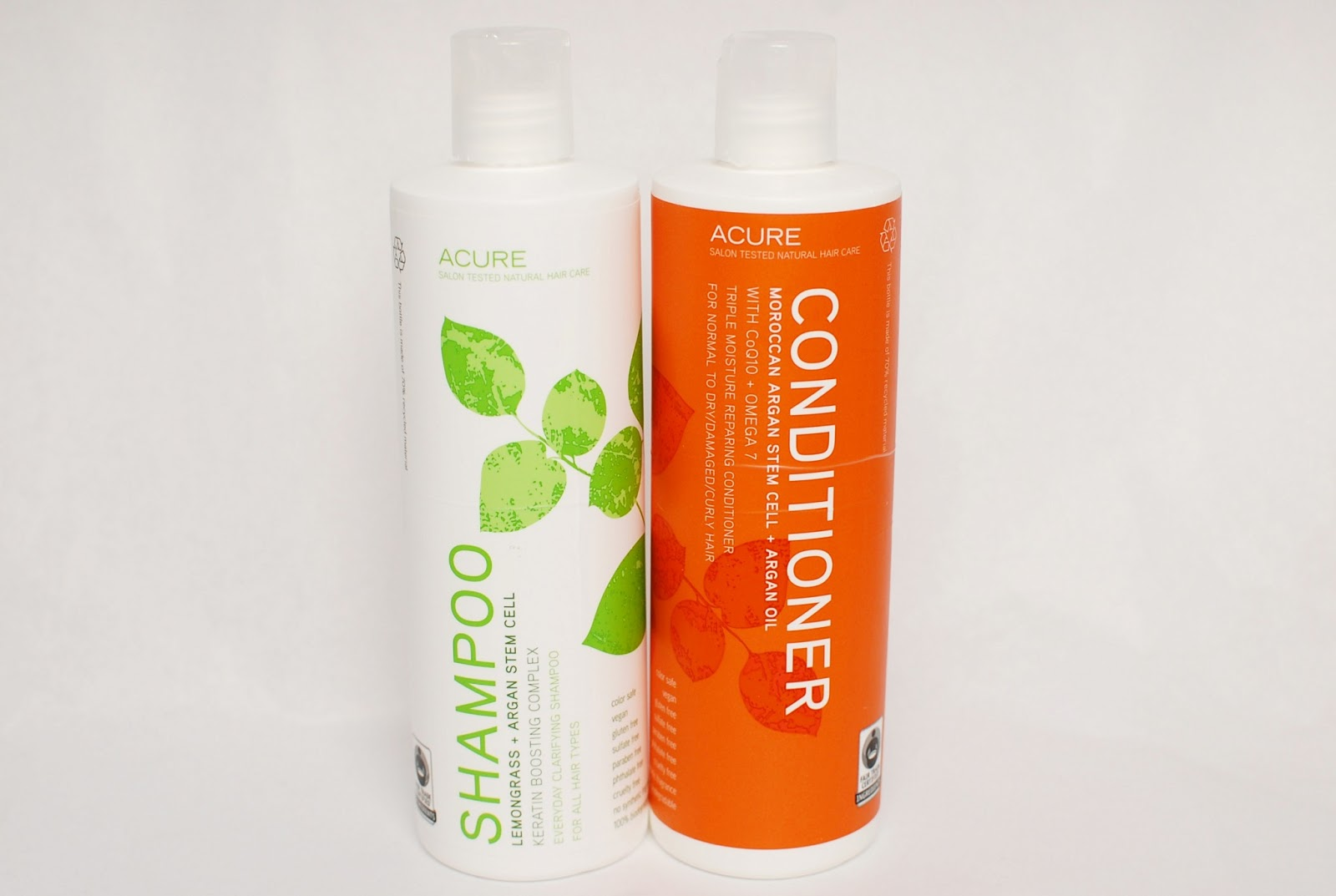 Acure Shampoo Lemongrass, Conditioner Argan Oil