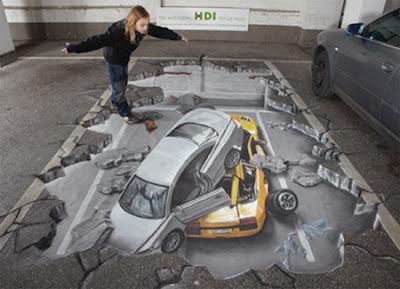 Lukisan Ilusi 3D Yang Menarik dan Mengagumkan Di Lantai ...