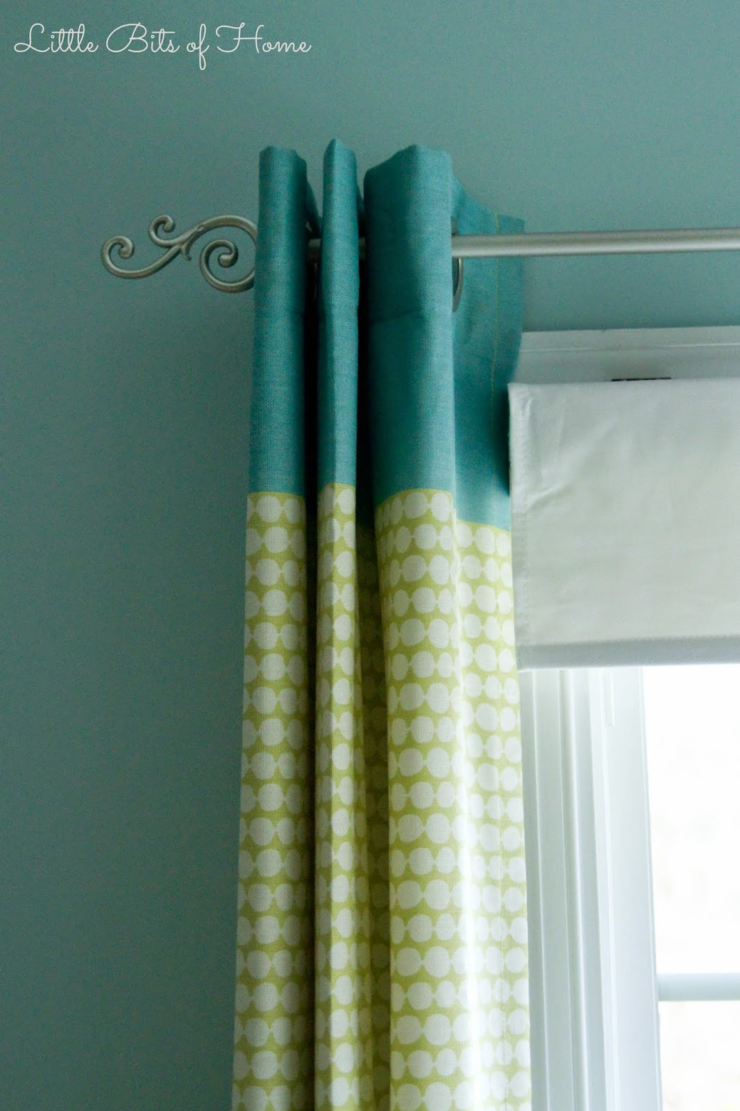 ... These curtains go great and even incorporate the blue at the top! Yay