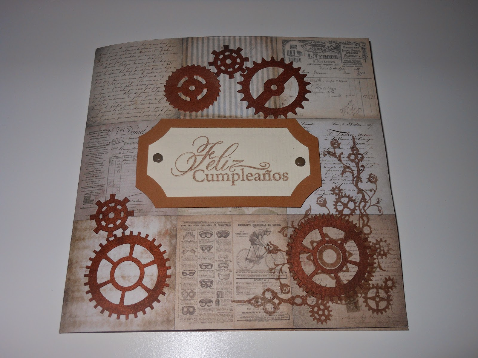 Steampunk, card, scrapbook
