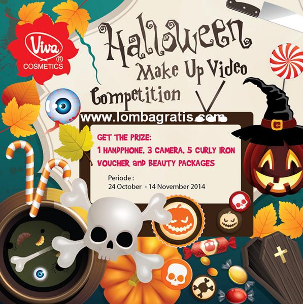 Lomba Video MakeUp Halloween Berhadiah Handphone, 3 Kamera, dll