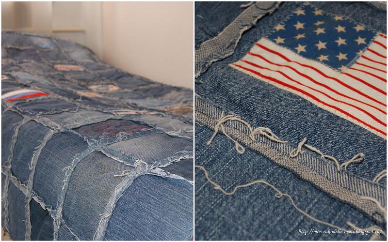 Одеяло из джинсы лоскуты сшить 47