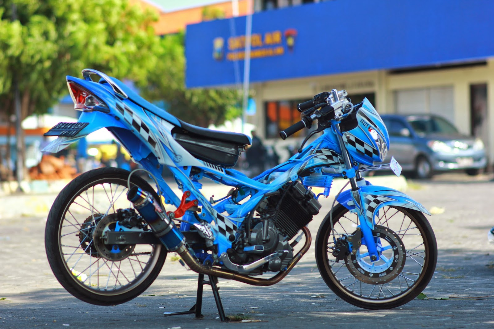 Modifikasi Motor Satria Fu 150cc Racing Look 2014