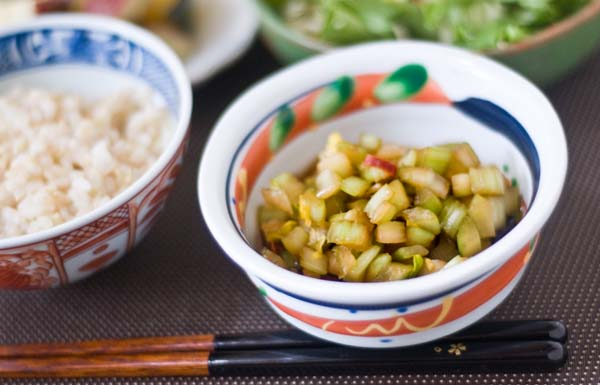 Simple Celery Pickles | Japanese Superfood Vegetable Gohan