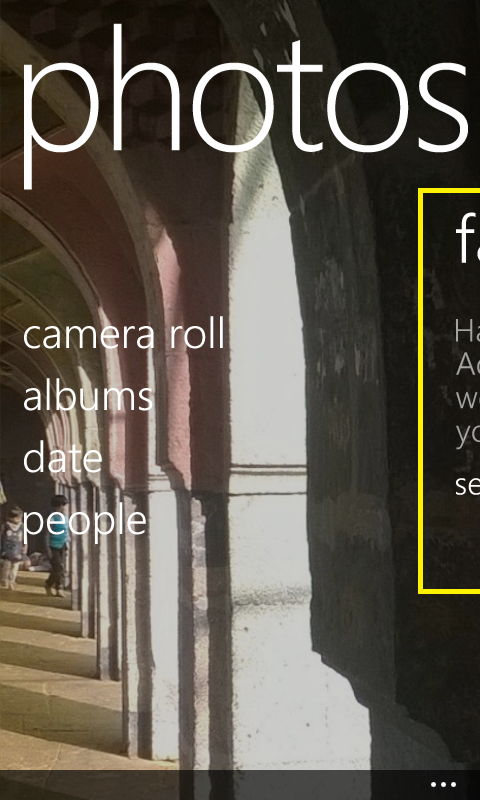 Swipe UI in Nokia Lumia