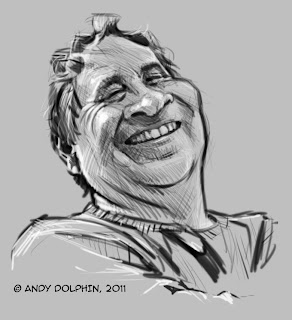 digital caricature of andy dolphin