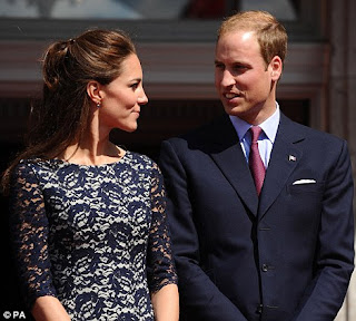 Kate and William share an intimate look