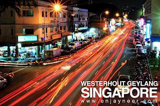 Geylang Road, Singapore, Westerhout Rd, Night, by night