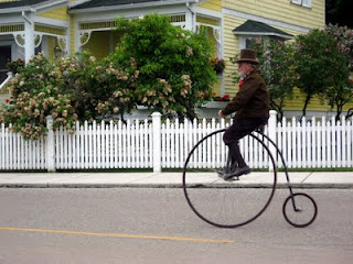 Photo of high-wheeled bicycle on Mackinac Island
