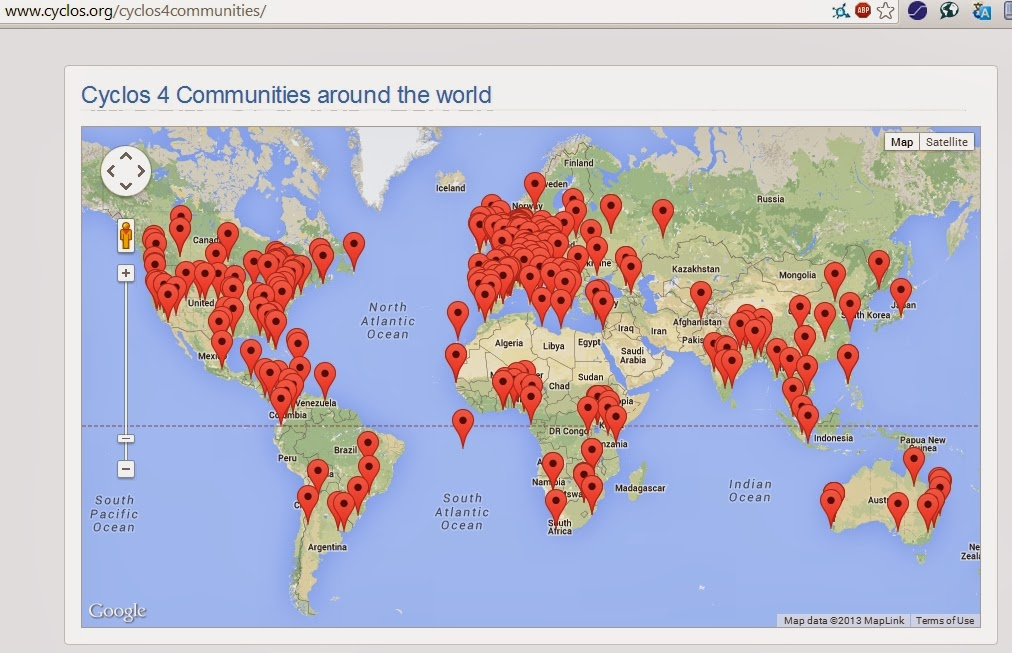 Cyclos 4 közösségek és pénznemek világszerte
