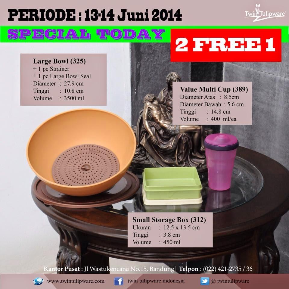 Promo Tulipware 13 dan 14 Juni 2014